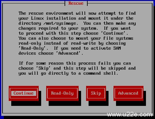 通过linux系统光盘修复误删除的rpm程序文件